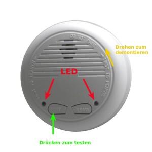 Rauchmelder: Batteriewechsel und Wartung